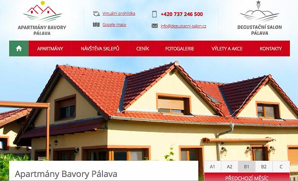 Apartmány Bavory Pálava